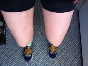 I LOVE fall, but apparently it's already a little too chilly for shorts. My legs were so red after my long run!