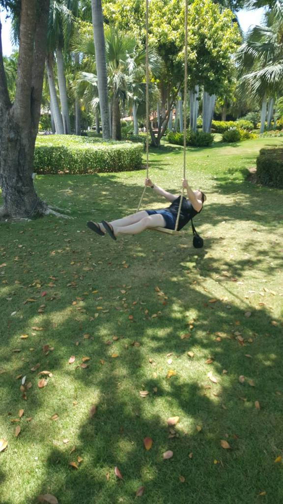 Like swinging on a tree-swing in the Dominican Republic, for example!